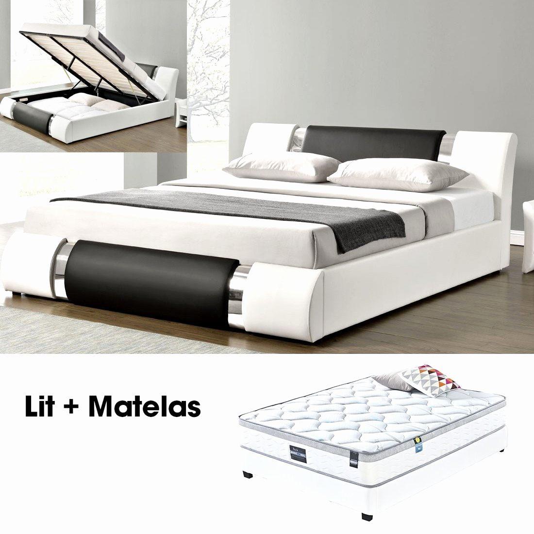 140×190 Lit Coffre Impressionnant Lit Coffre 140×190 Avec Matelas Luxe Lit 140—200 Avec sommier Et
