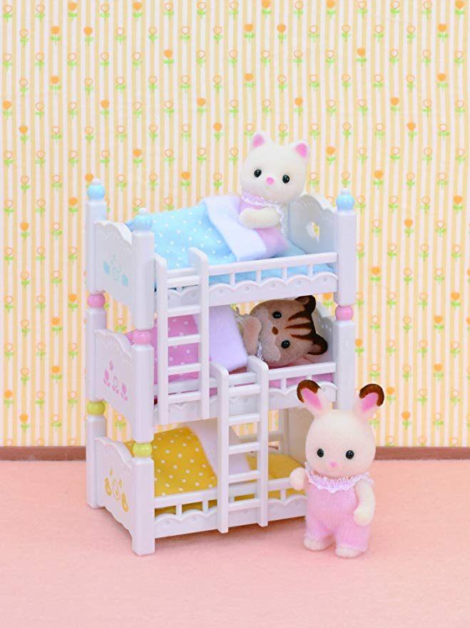 3 Lits Superposés Le Luxe Sylvanian Families 2919 Lits Superposés  3 Couchettes Bébés
