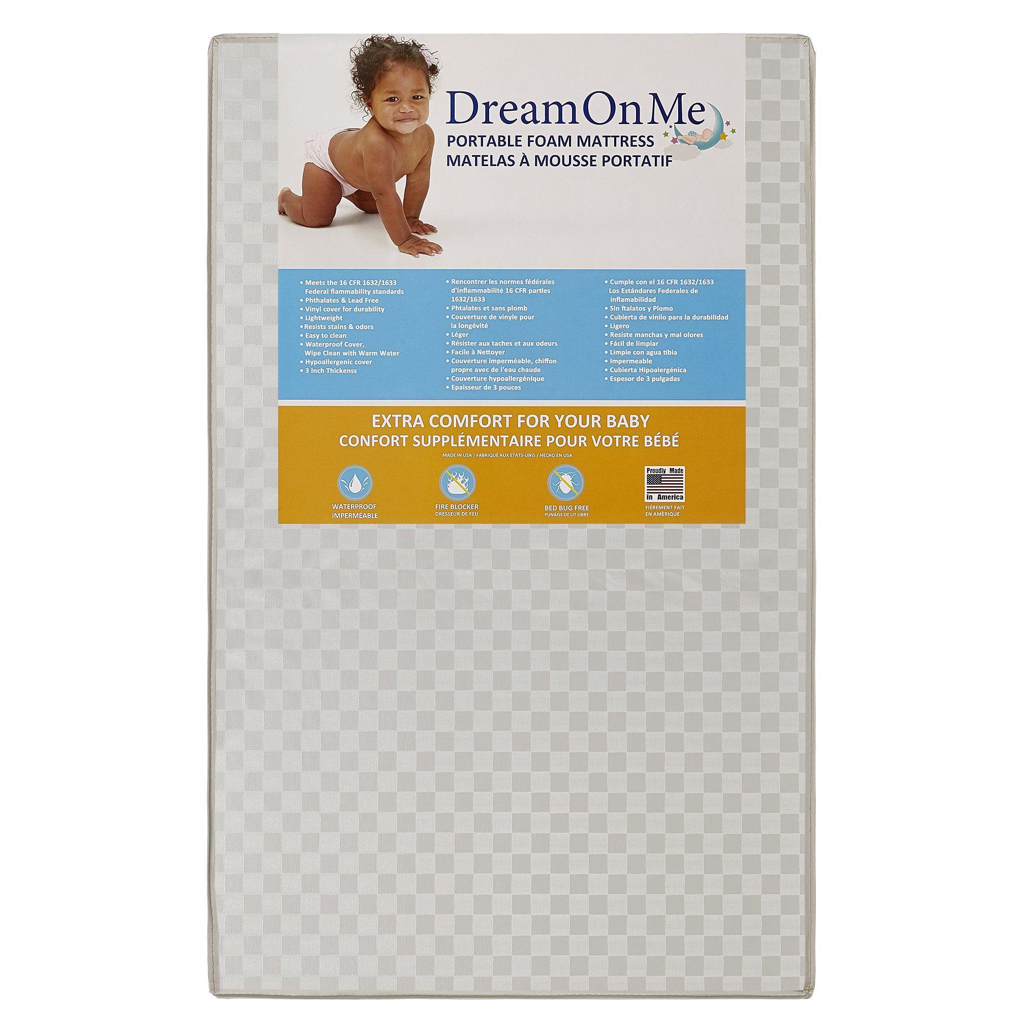 Amazon Dream Me Violet 4 in 1 Convertible Mini Crib Cherry