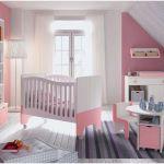 Accessoire Lit Bébé Fraîche Elégant Chambre Bébé Fille Gris Et Rose Beau Parc B C3 A9b C3 A9