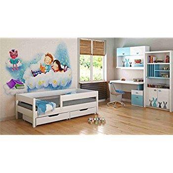 Barriere De Lit Enfant Douce Matelas 160—80 Inspirant Lit Enfant Motif Multicolore Et Licorne