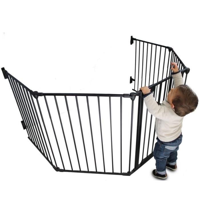 Barriere De Lit Pour Enfant Meilleur De Barri¨re De Sécurité Et De Cheminée 310cm 5 Pans Noir Achat