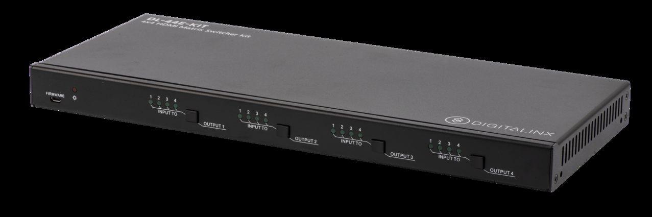 DL 44E H2 KIT 4X4 HDBT 18G 4k60 4 4 4 & HDR Matrix Switch w Multi