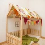 Cabane Lit Pour Enfant Belle House Shaped Bed Montessori Bed Or Toddler Bed Floor Bed Full