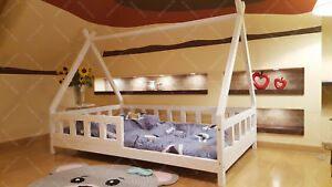 Cabane Lit Pour Enfant Génial Mon Lit Cabane Tipi Lit Pour Enfants Lit D Enfant Avec Barri¨re