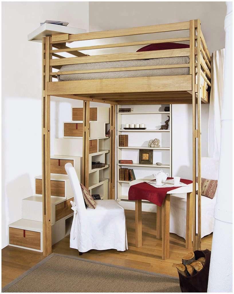 Cadre Lit 160×200 Joli Frais Lit Mezzanine Adulte 160—200 Luxe Lit Bois 160—200 Cadre Lit