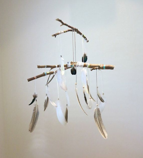 Cale Bebe Lit Frais Gypsy Feather and Branch Dreamcatcher Mobile Crafting