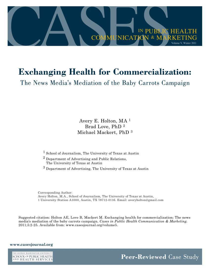 Cale Bebe Lit Génial Pdf Exchanging Health for Mercialization the News Media S