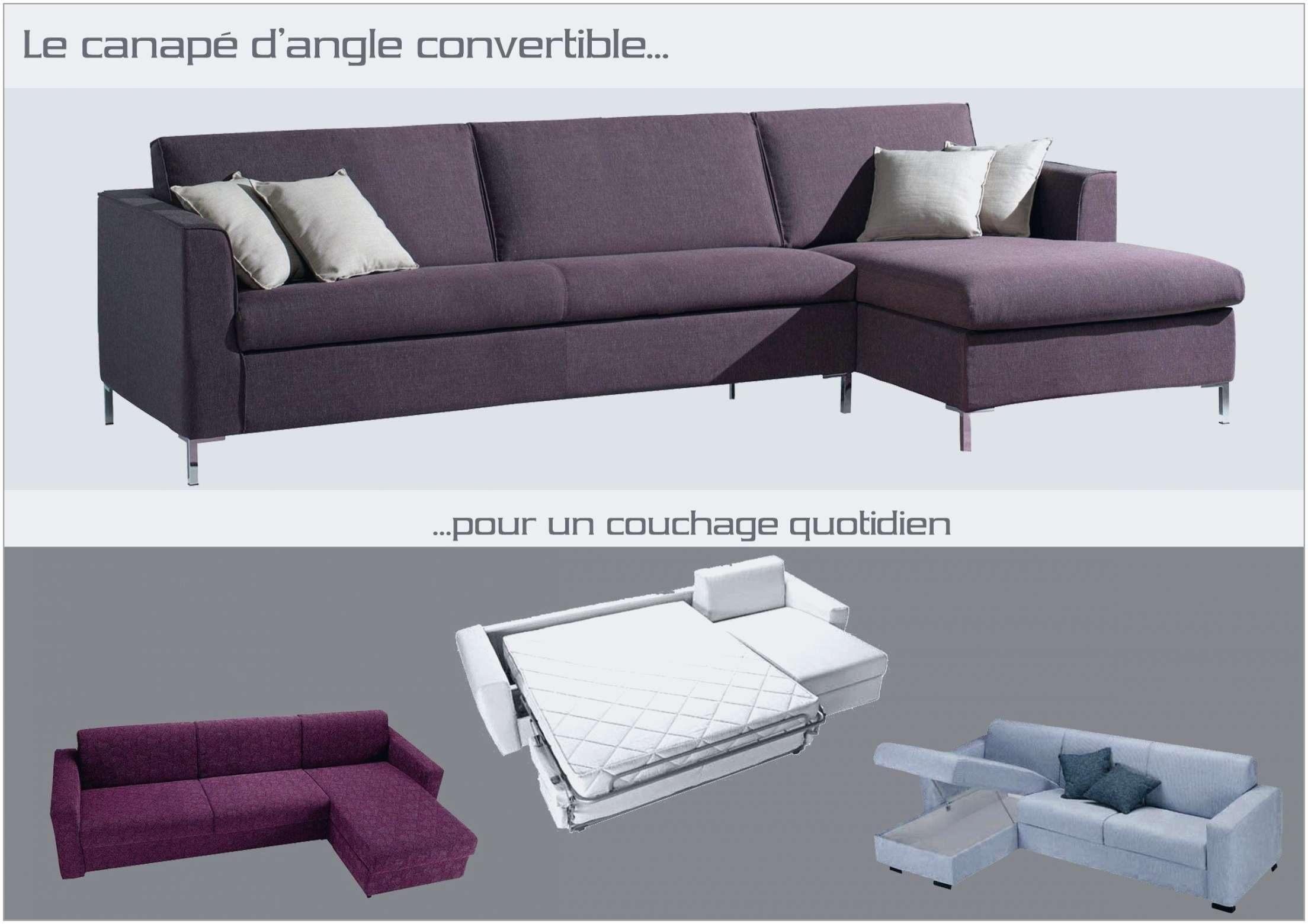 Canapé Lit Convertible Couchage Quotidien Magnifique Beau Canapé D Angle — Puredebrideur Pour Option Canapé Angle Ikea