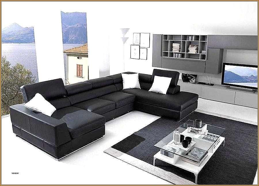 Canapé Lit D Angle Charmant Canapé D Angle Convertible Noir Et Blanc Zochrim