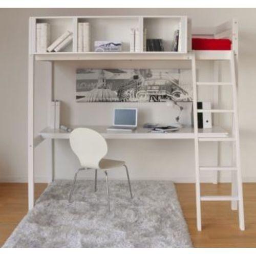 Chambre Avec Lit Mezzanine Impressionnant Lit Mezzanine Lou 90×190 Bureau Rangement 3 Niches 1 sommier