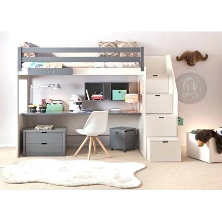 Chambre Avec Lit Mezzanine Luxe Bureau Pour Une Fille Ado Avec Tiroirs Et Partiment Pour Bureau