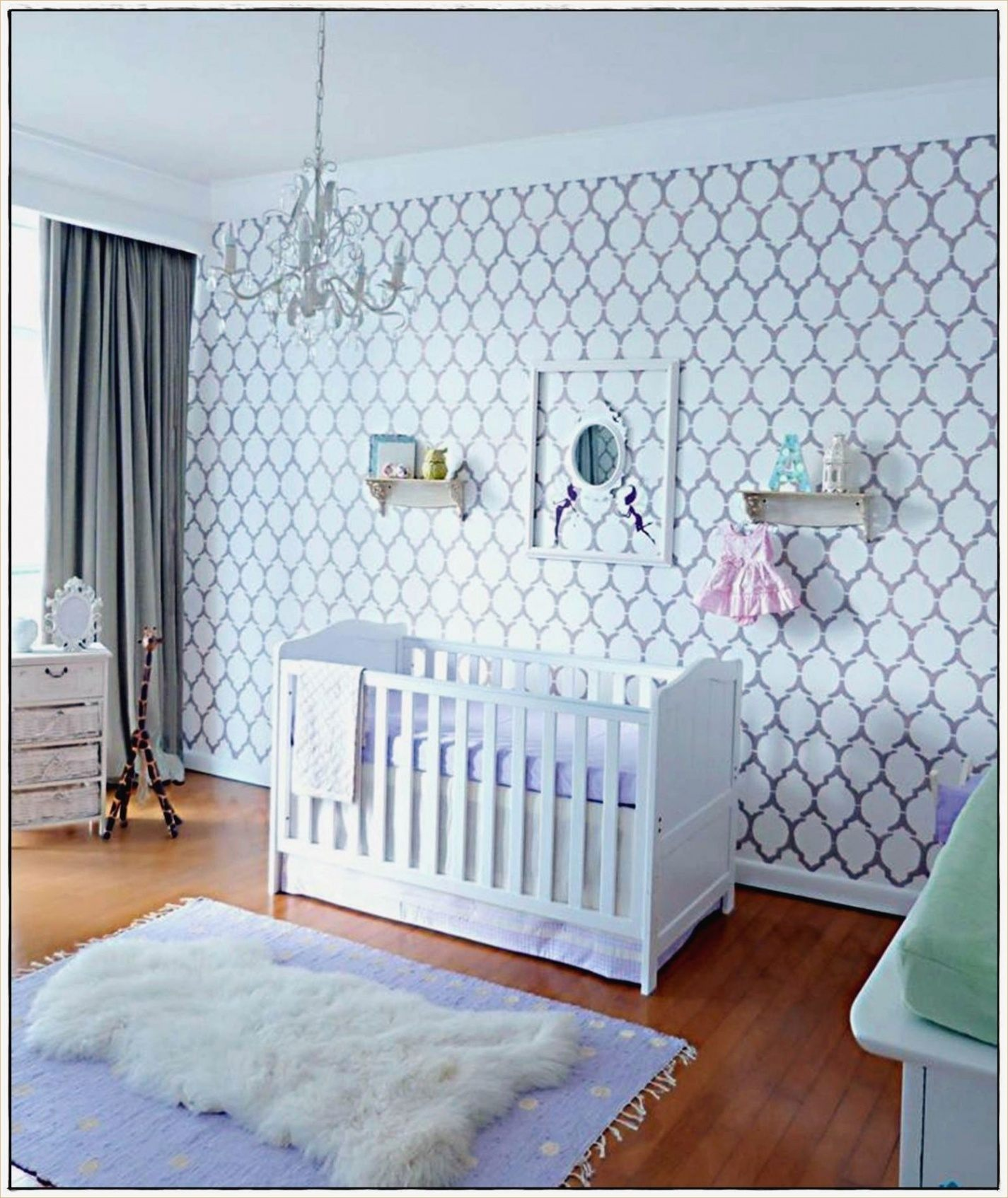 Ciel De Lit Bébé Blanc Magnifique Rideaux Pour Chambre Bébé — Laguerredesmots