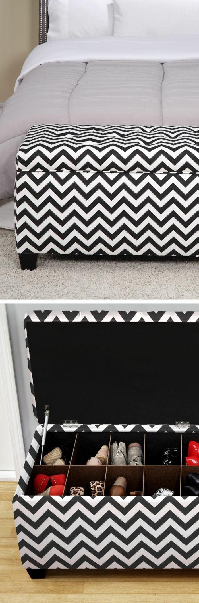 Coffre De Lit Ikea Meilleur De Banquette Bout De Lit Avec Coffre A Rayures Blancs Noirs