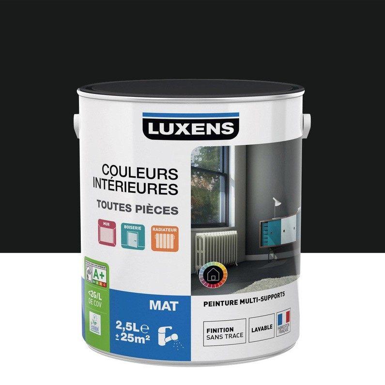 Comment Faire Une Tete De Lit Fraîche Peinture Noir Noir 0 Mat Luxens Couleurs Intérieures Mat 2 5 L