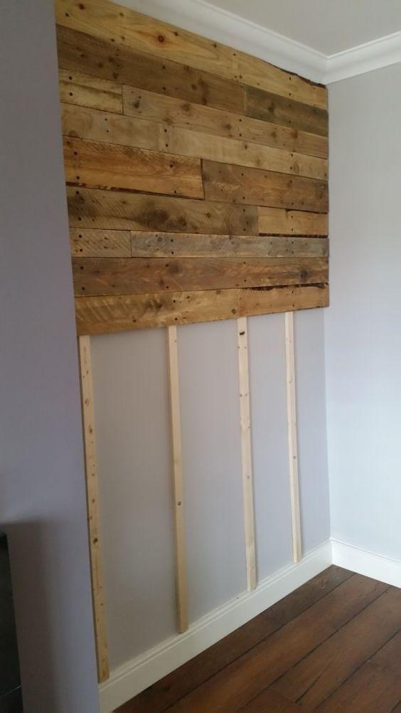 Comment Fixer Une Tete De Lit Impressionnant Pallet Wall Living Room Pallet Projects Pallet Walls
