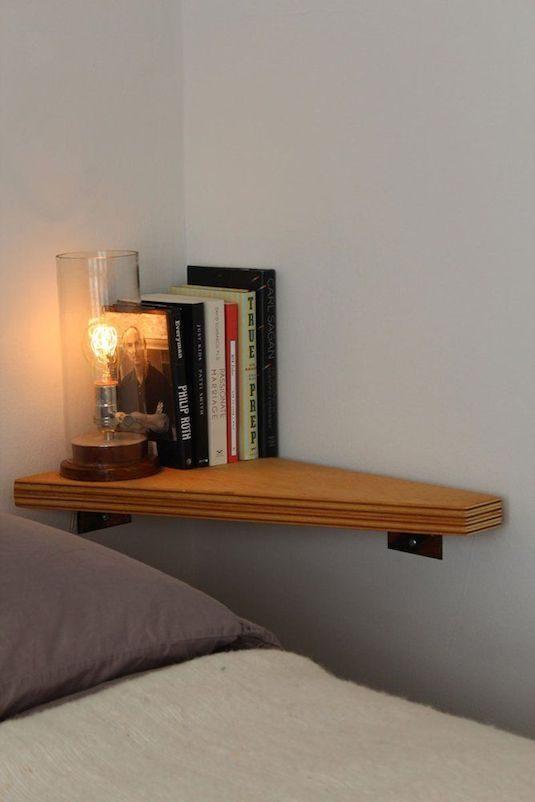 Comment Fixer Une Tete De Lit Joli 29 Idées De Génie Pour Gagner De La Place Dans Votre Appartement