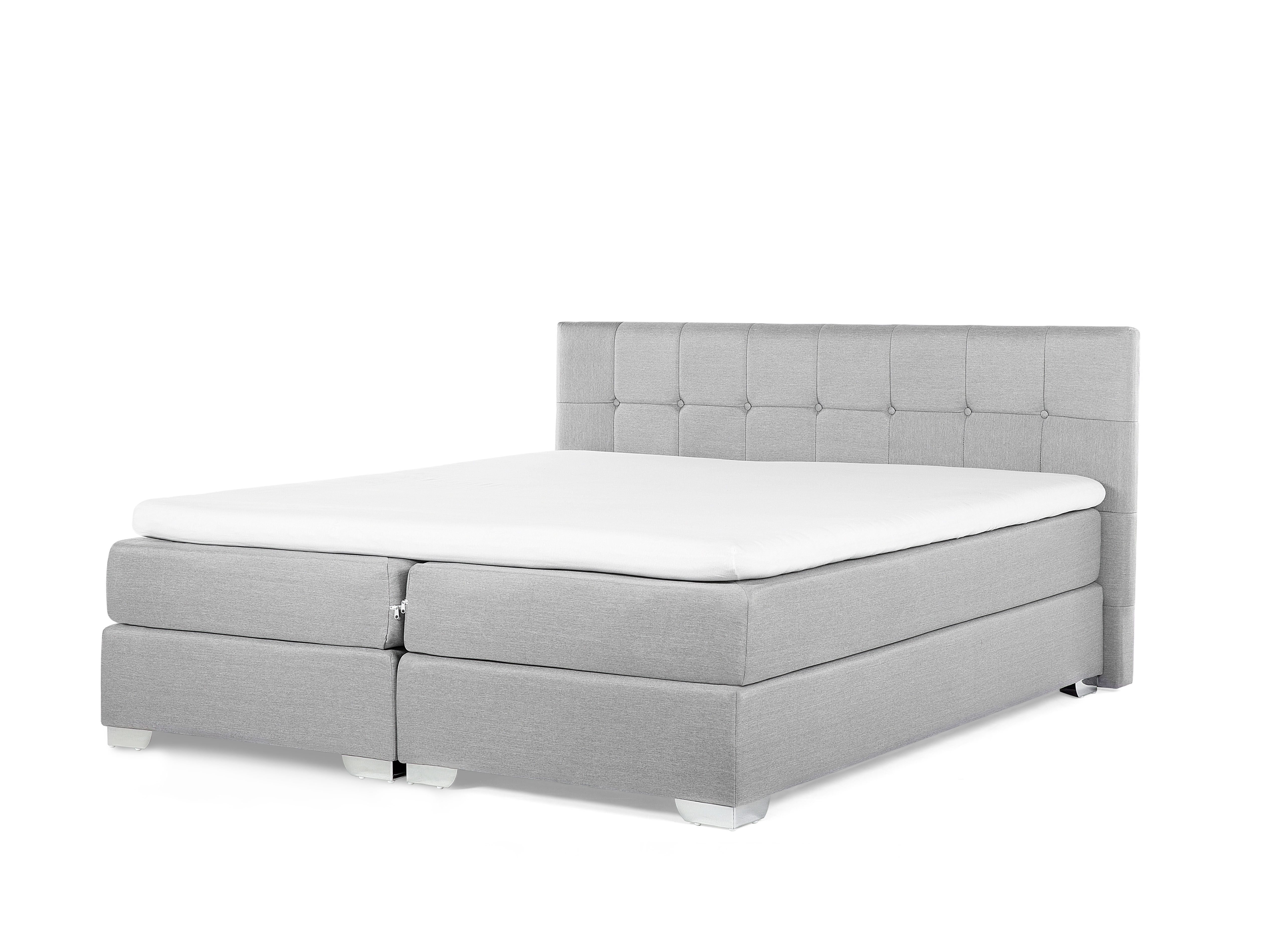 Contour De Lit 160×200 Inspirant Fabric King Size Divan Bed Light Grey Admiral