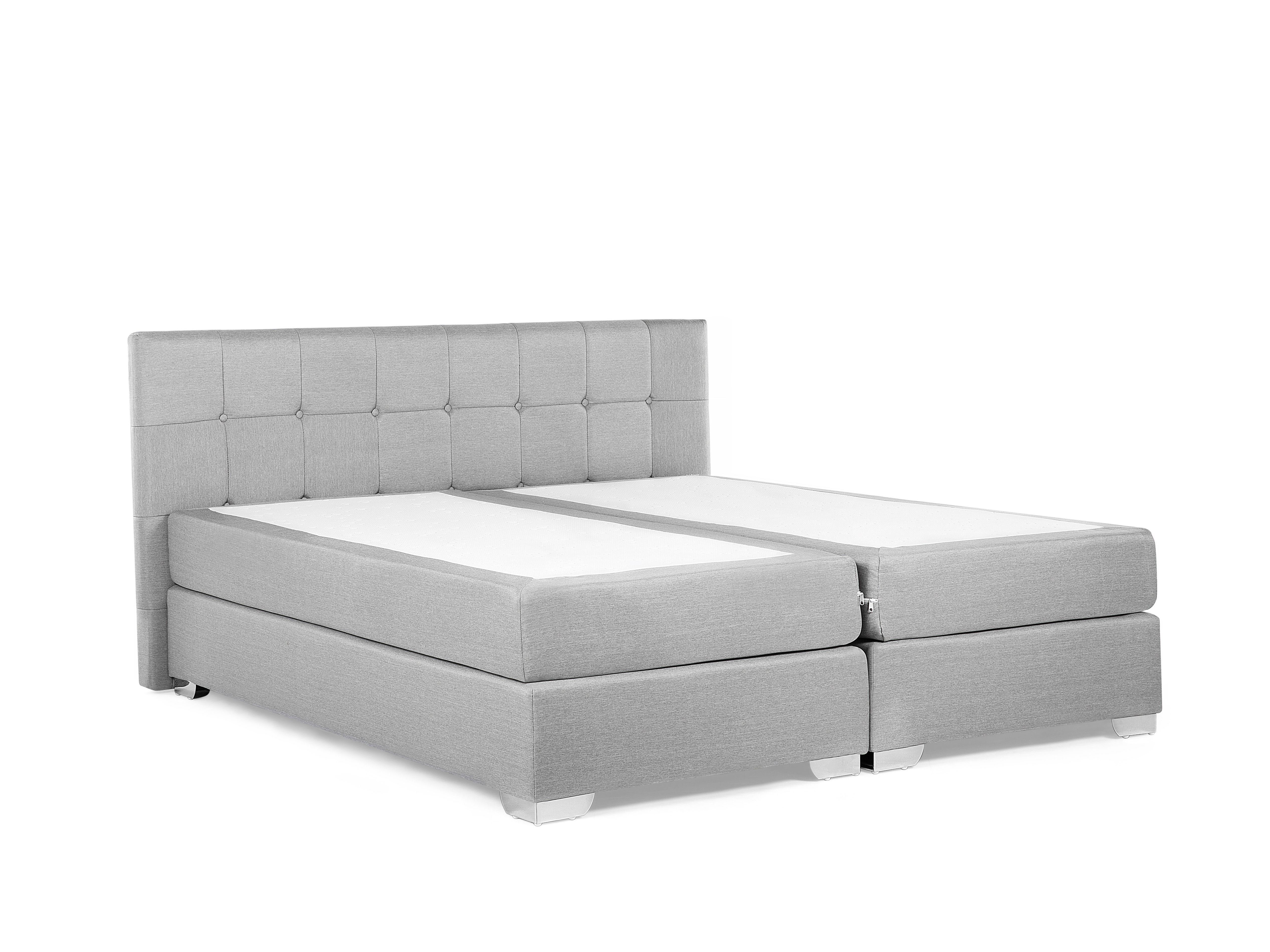 Contour De Lit 160×200 Joli Fabric King Size Divan Bed Light Grey Admiral