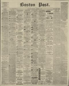 Contour Lit Bébé Nouveau Boston Post Newspaper Archives Oct 3 1874