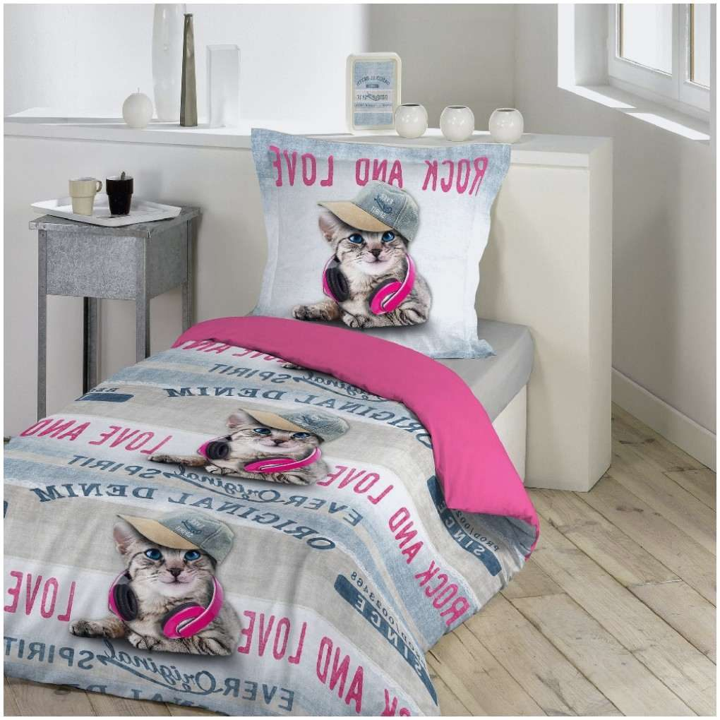 Couette Lit 1 Place Douce Beau Parure Lit 1 Place Rock Love Chat Rose Linge De Lit Linge