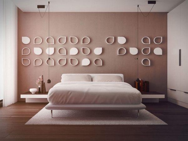 Decoration Mur Tete De Lit Joli Déco Chambre Adulte 57 Idées Fascinantes  Emprunter