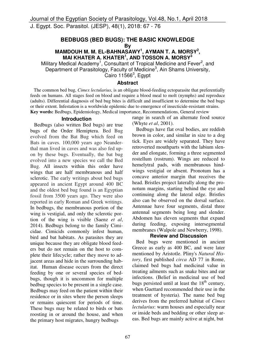 Dejection Punaise De Lit Magnifique Pdf Bed Bugs Cimex Lectularius as Vectors Of Trypanosoma Cruzi