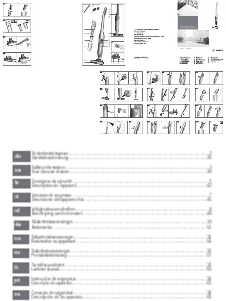 Dejection Punaise De Lit Unique Manual Bosch Bch3all25