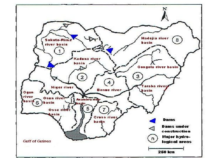Dimension Lit 1 Place 1 2 Fraîche Map Of Nigeria Showing Major Rivers and Hydrological Basins 1 Niger
