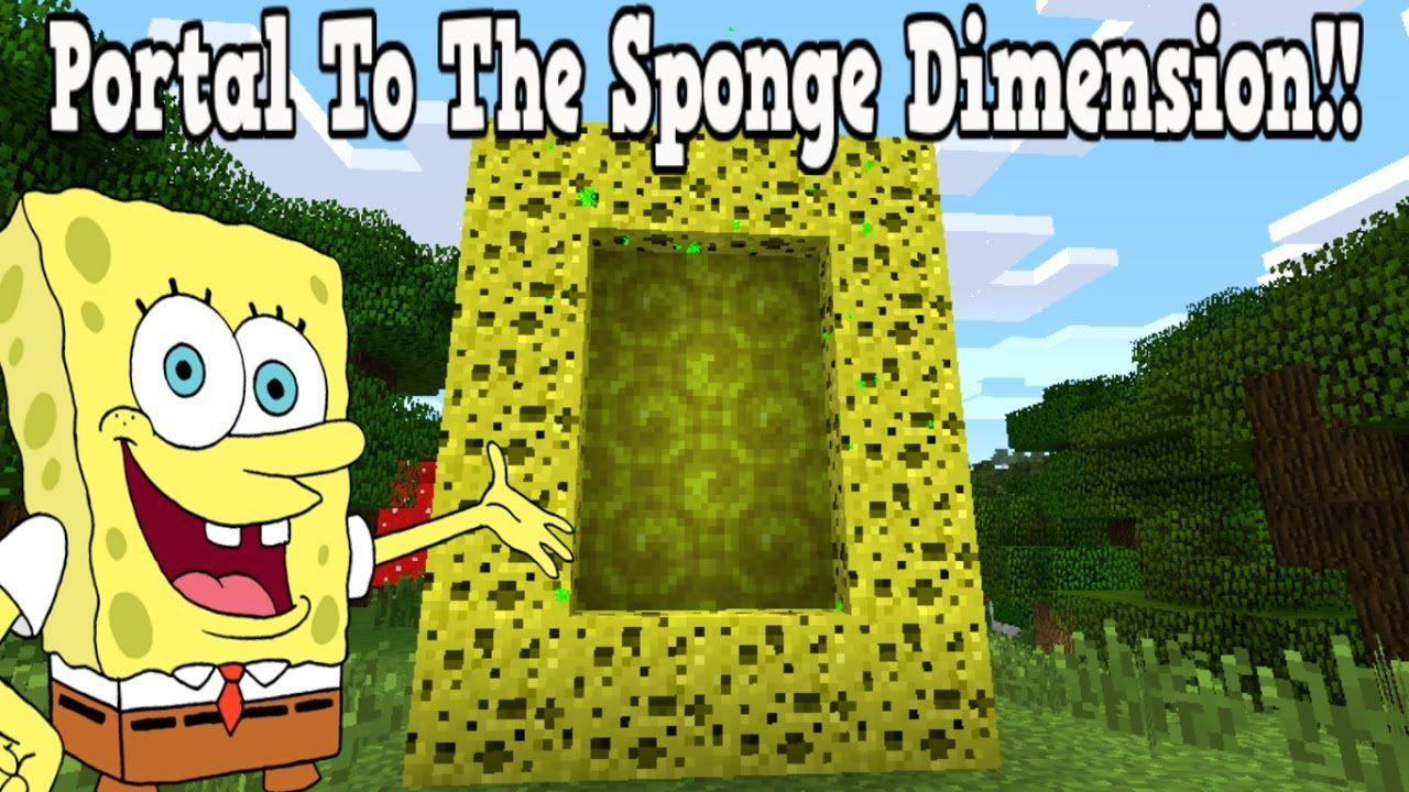 Dimension Lit 1 Place 1 2 Inspirant Minecraft How to Make A Portal to the Sponge Dimension Sponge