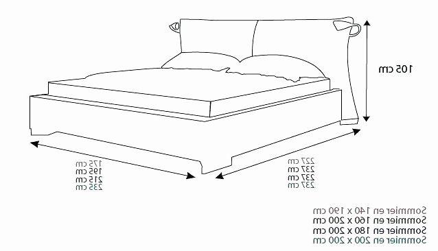 Dimension Lit 2 Places Charmant Dimension Lit King Size Luxe Width Queen Size Headboard Queen Size