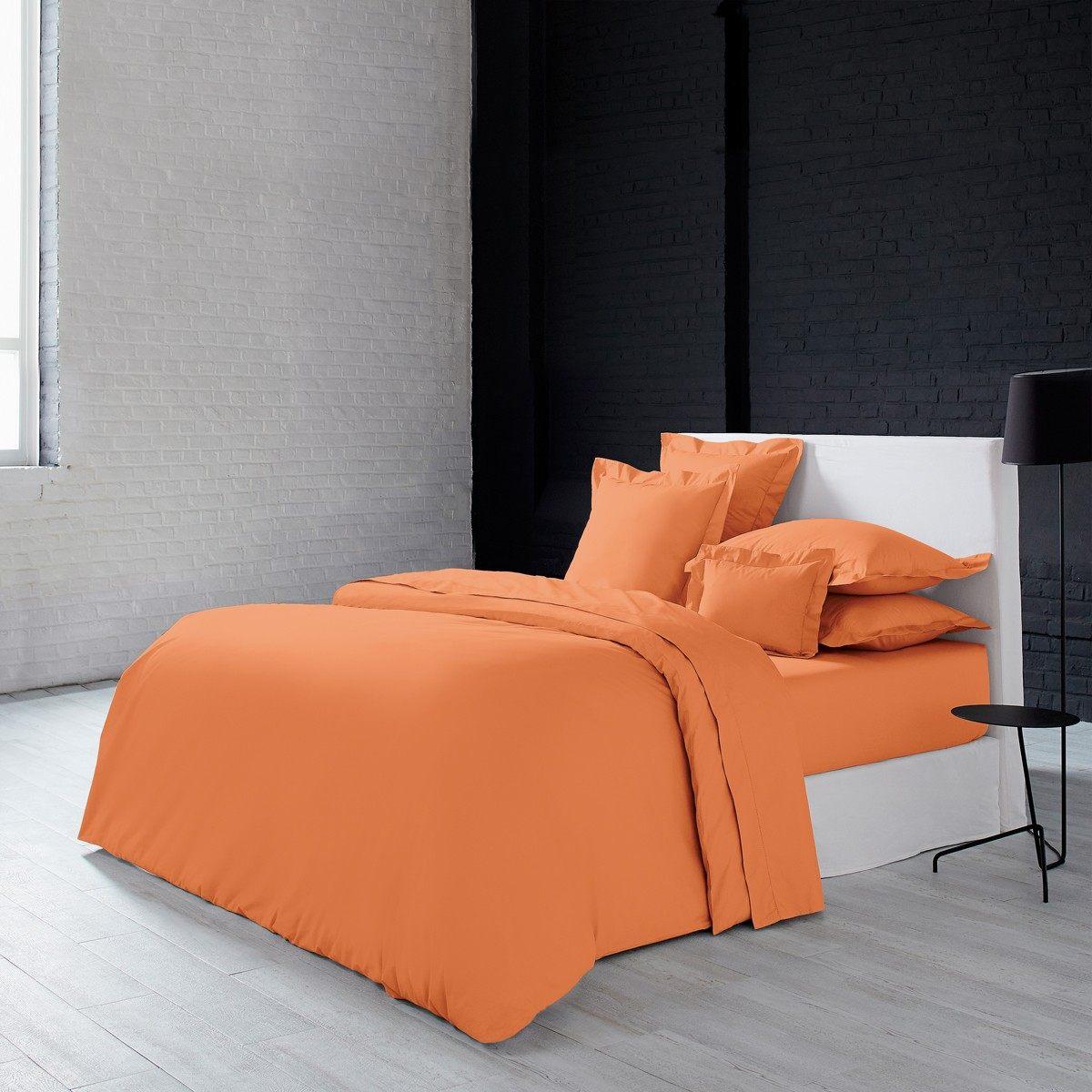 Drap Plat Pour Lit 160×200 Bel Parure De Lit Olivier Desforges Alcove orange Linge De Lit Haut De