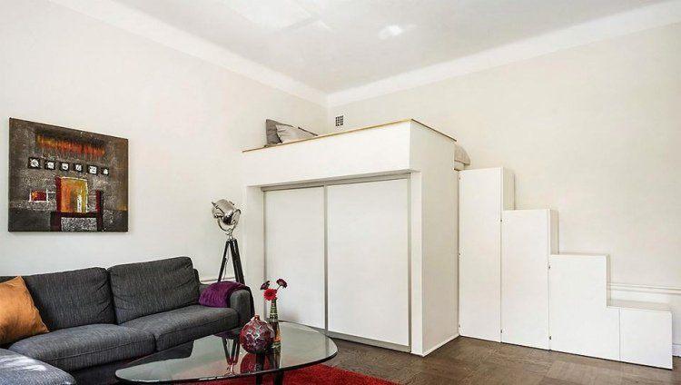 échelle Lit Superposé Bel Mezzanine Bed Dla Rozwoju Małego Mieszkania