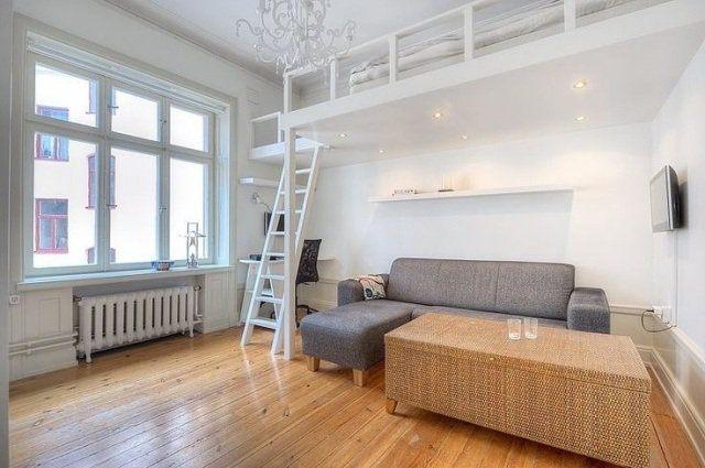 échelle Lit Superposé Joli Mezzanine Bed Dla Rozwoju Małego Mieszkania