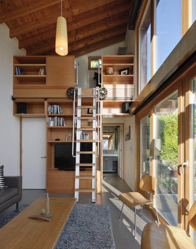 échelle Lit Superposé Luxe Lit Mezzanine Avec Penderie Intégré Et Bloc De Rangement Sd17