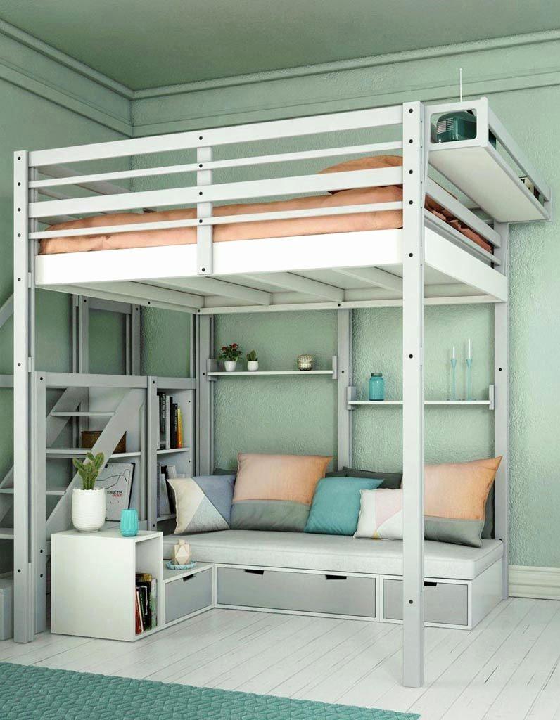 Escalier Lit Mezzanine Agréable Lit Mezzanine Avec Rangement Beau Lit En Mezzanine Luxe Rangement