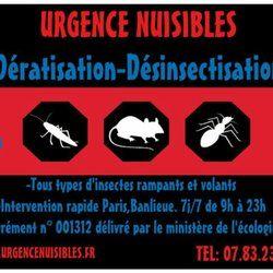 Urgence Nuisibles 15 s Exterminateurs 10 rue de