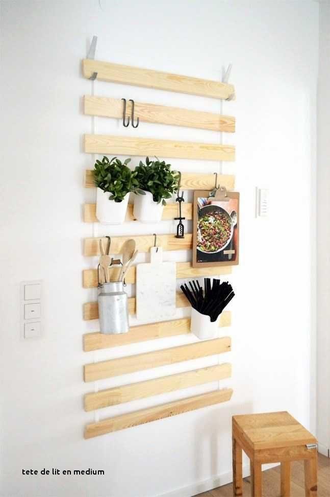 Fabriquer Tete De Lit Medium Nouveau Diy Tete De Lit Chambre Decoration Taupe Et Blanc Beige Bois Diy