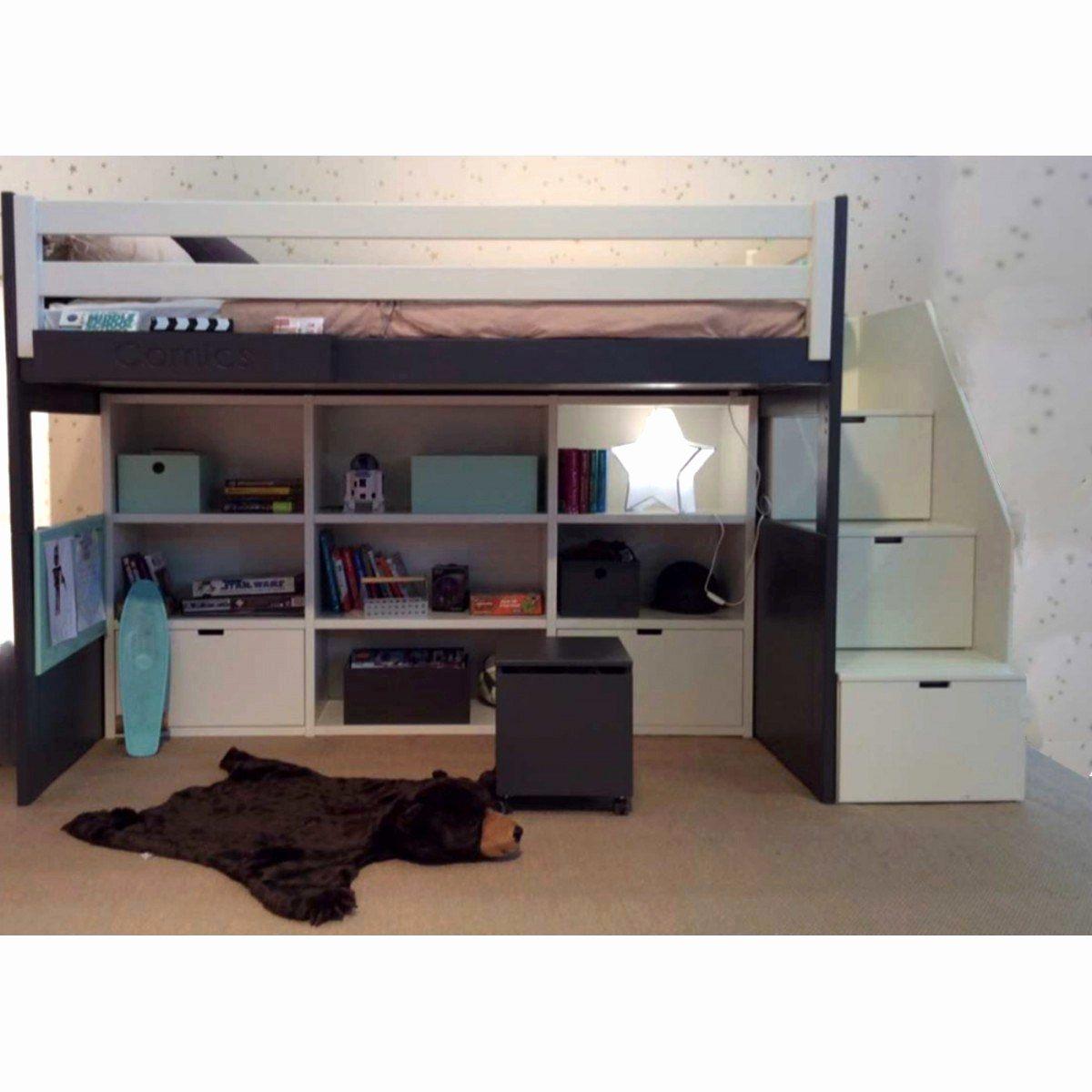 Fabriquer Un Cadre De Lit Avec Rangement Luxe Lit Mezzanine Avec Rangement Adulte