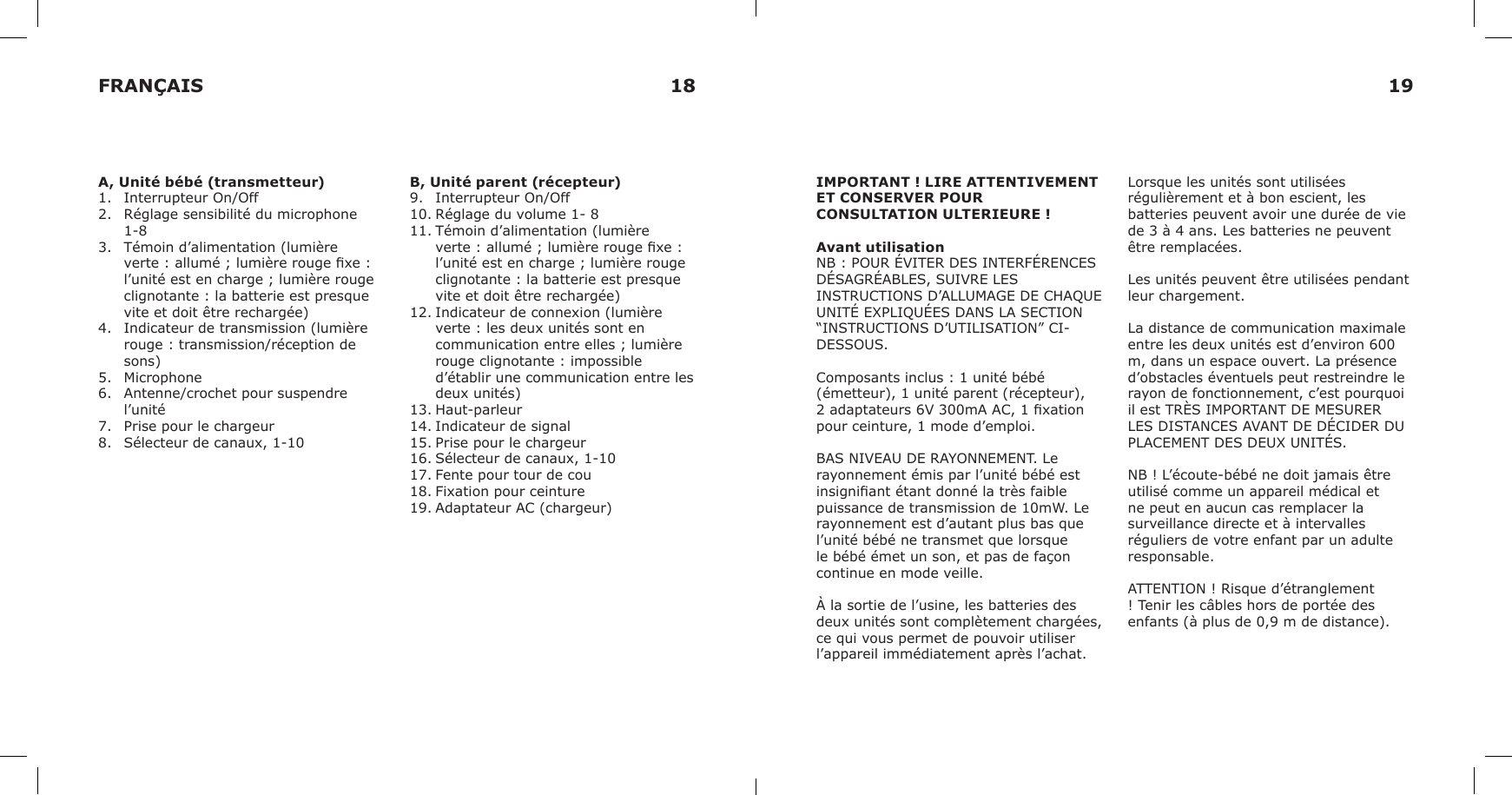 Faire Un tour De Lit Inspirant Ik88t 900mhz Analog Baby Monitor Baby Unit User Manual Ikea Of