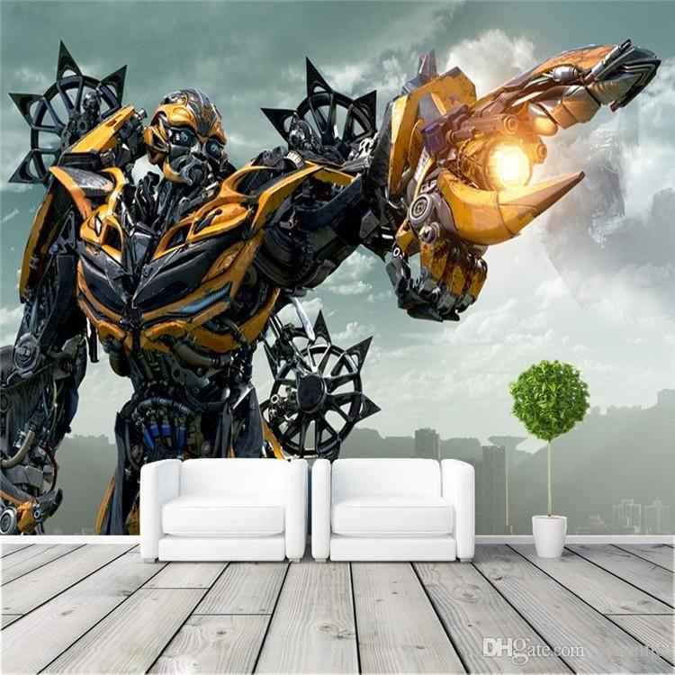 Grand Lit Bebe Luxe Acheter Transformers Bumblebee Wall Mural Grand Art Mural Papier