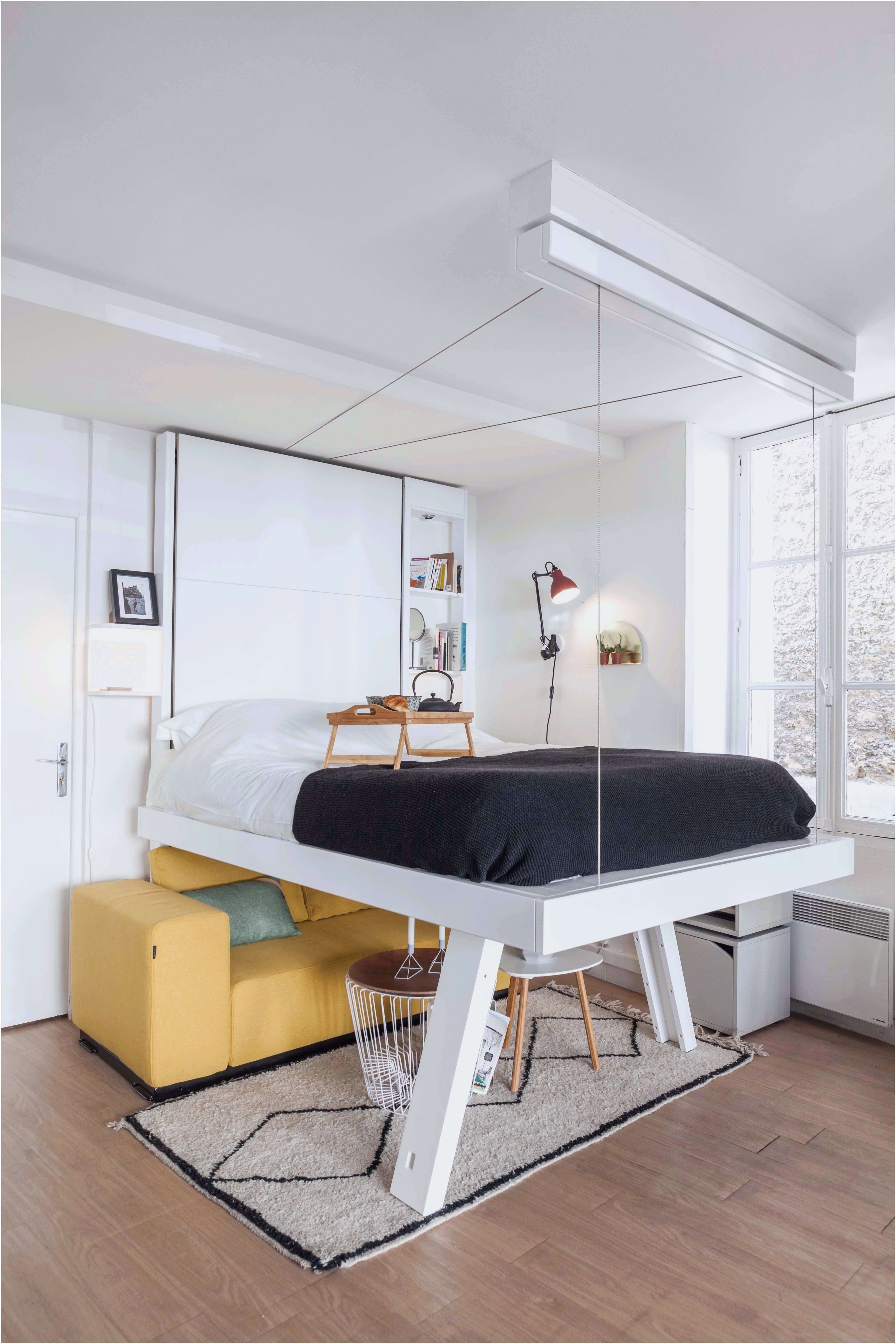Grand Lit Mezzanine Élégant Nouveau Lit Mezzanine Salon Chambre Mezzanine Adulte Beau Mezzanine