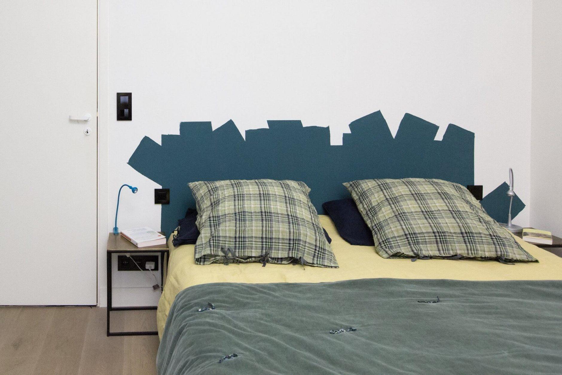 Grande Tete De Lit Douce Chambre Decoration Taupe Et Blanc Beige Bois Diy Tete De Lit Grande