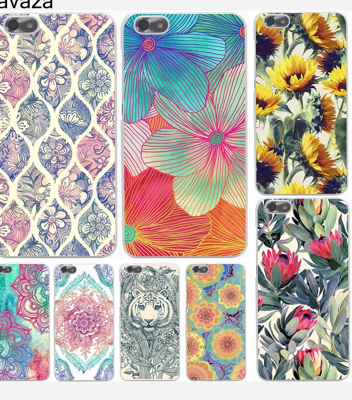 Huawei Mate 10 Lite Pas Cher Inspiré ④lavaza МандаРа Цветок дурмана Цветочный Жесткий ЧехоРдРя Huawei
