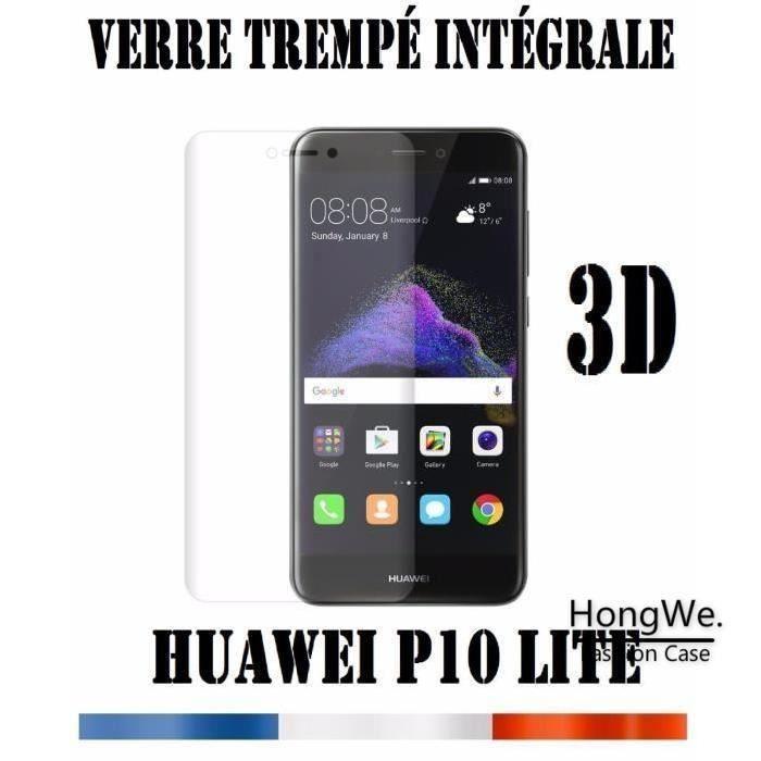 Huawei P10 Lite Pas Cher Fraîche Hlmonkey Pour Huawei P10 Lite Verre Trempé 3d Intégral