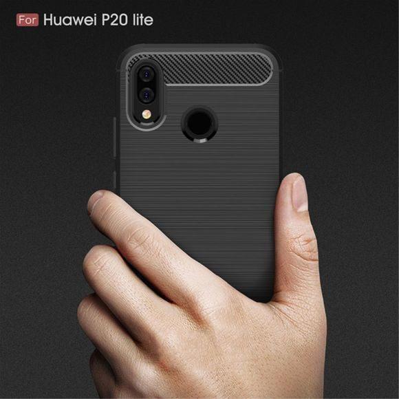 Huawei P10 Lite Pas Cher Magnifique Hfs House Huawei P20 Lite Carbone Noir Coque Housse Etui En