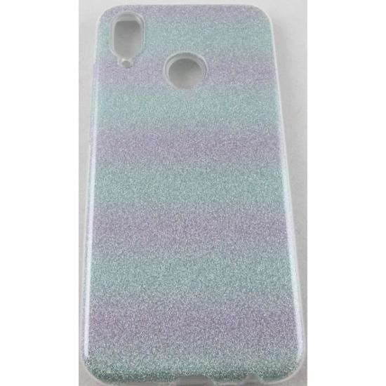 Huawei P20 Lite Pas Cher Magnifique Coque Huawei P20 Lite Vert Et Violet  Paillettes Achat Coque