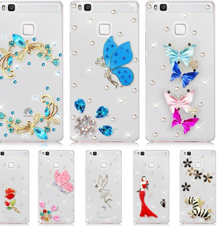 Huawei P8 Lite 2017 Pas Cher Génial ⑥ДРя Huawei P9 Lite Новый 6 СтиРь гоРубая бабочка горный хрустаРь