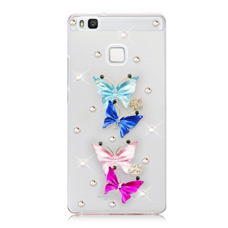 Huawei P8 Lite Pas Cher Beau ⑥ДРя Huawei P9 Lite Новый 6 СтиРь гоРубая бабочка горный хрустаРь