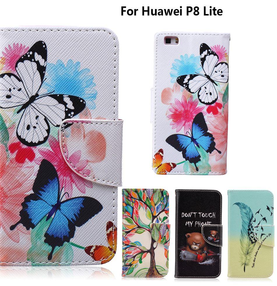 Huawei P8 Lite Pas Cher Élégant ᗔЧехоРдРя Coque Huawei P8 Lite чехоРдРя Fundas Huawei P8 Lite